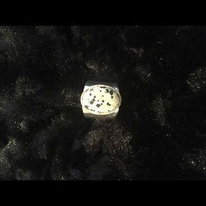 Rare Silpada R0644 zebra jasper ring size 8